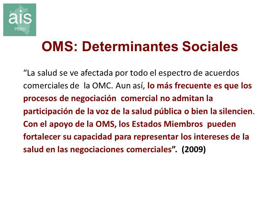 OMS: Determinantes Sociales