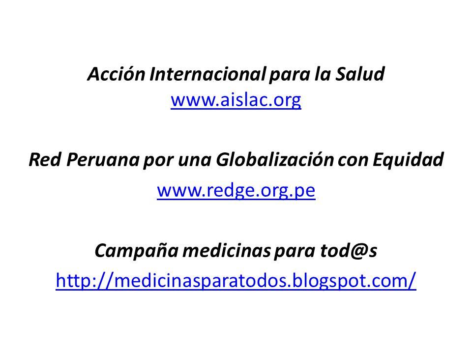 Acción Internacional para la Salud www. aislac