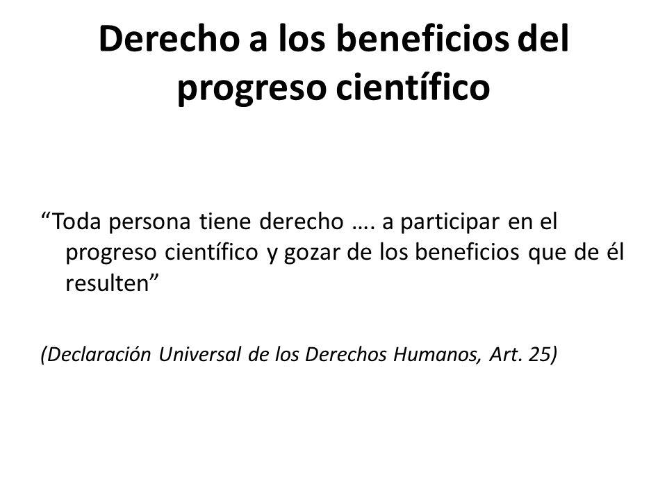 Derecho a los beneficios del progreso científico