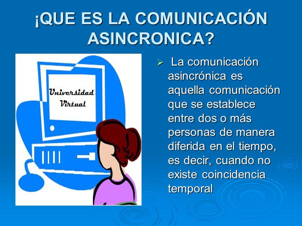 ¡QUE ES LA COMUNICACIÓN ASINCRONICA