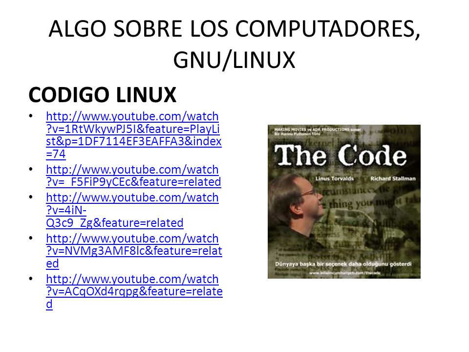 ALGO SOBRE LOS COMPUTADORES, GNU/LINUX
