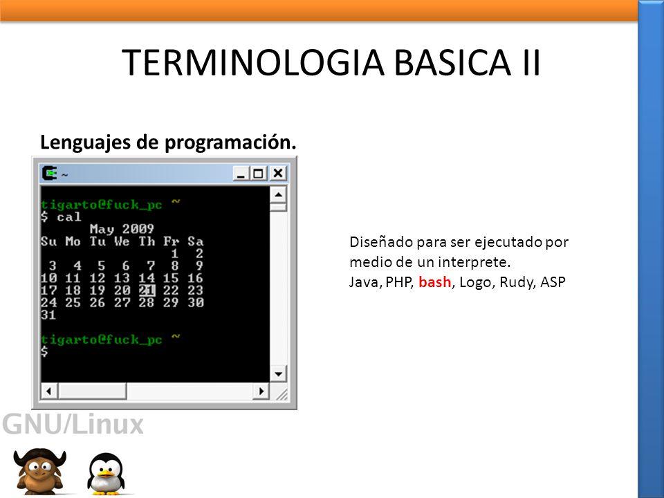 TERMINOLOGIA BASICA II