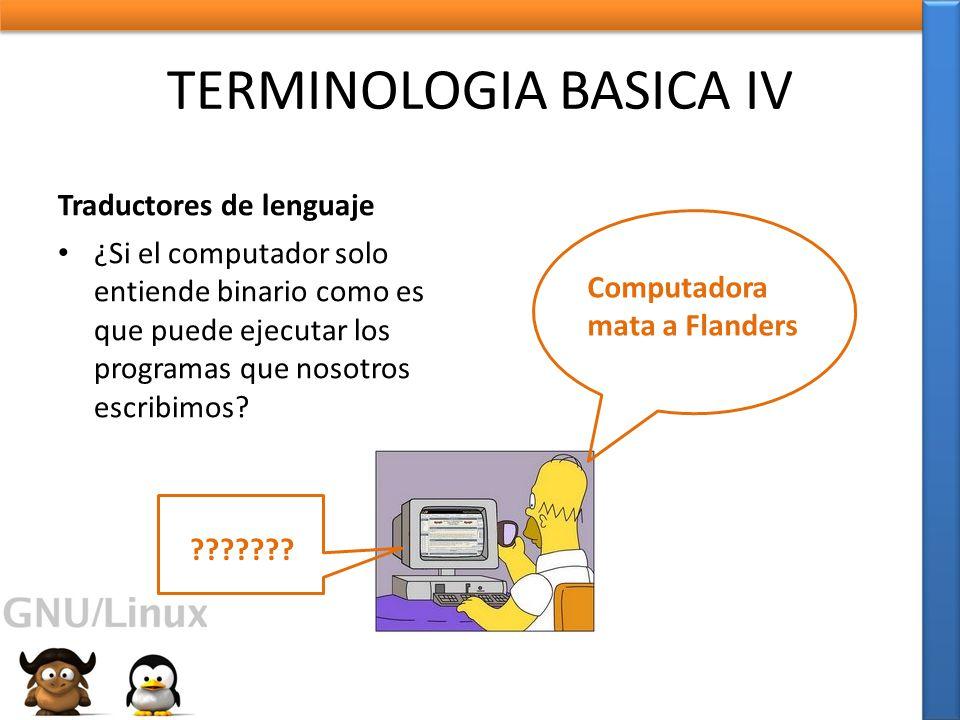 TERMINOLOGIA BASICA IV