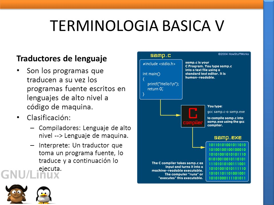 TERMINOLOGIA BASICA V Traductores de lenguaje