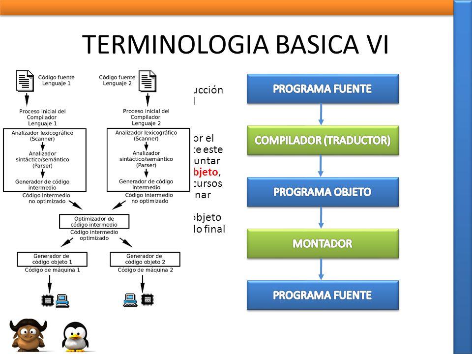 TERMINOLOGIA BASICA VI