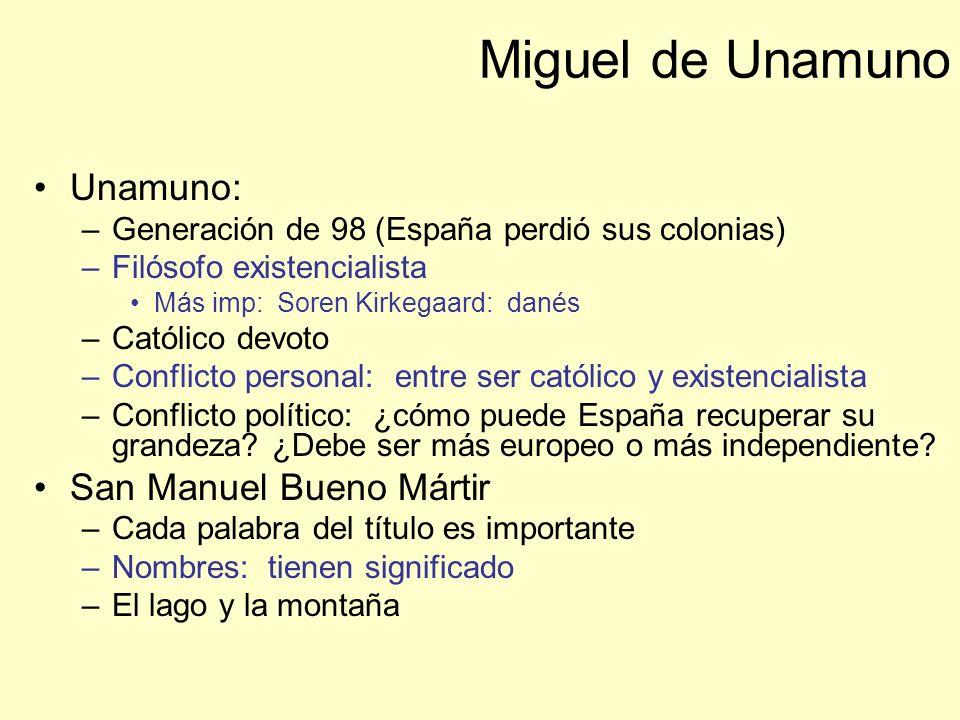 Miguel de Unamuno Unamuno: San Manuel Bueno Mártir