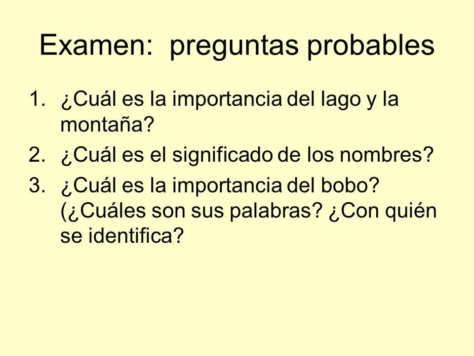 Examen: preguntas probables