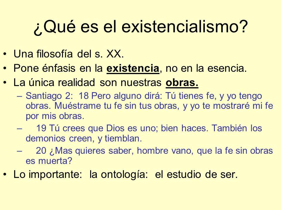 ¿Qué es el existencialismo