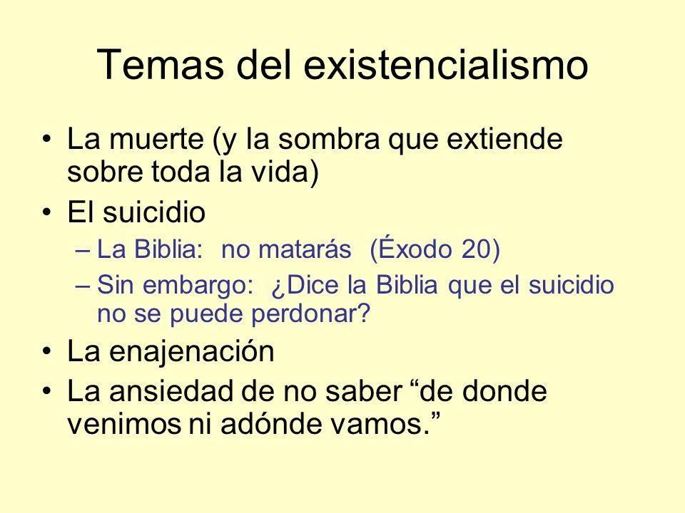 Temas del existencialismo