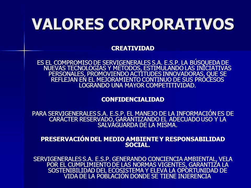 PRESERVACIÓN DEL MEDIO AMBIENTE Y RESPONSABILIDAD SOCIAL.