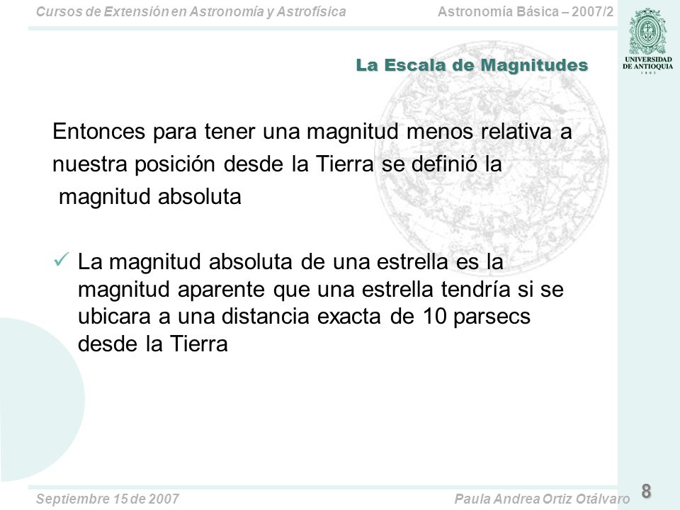 La Escala de Magnitudes