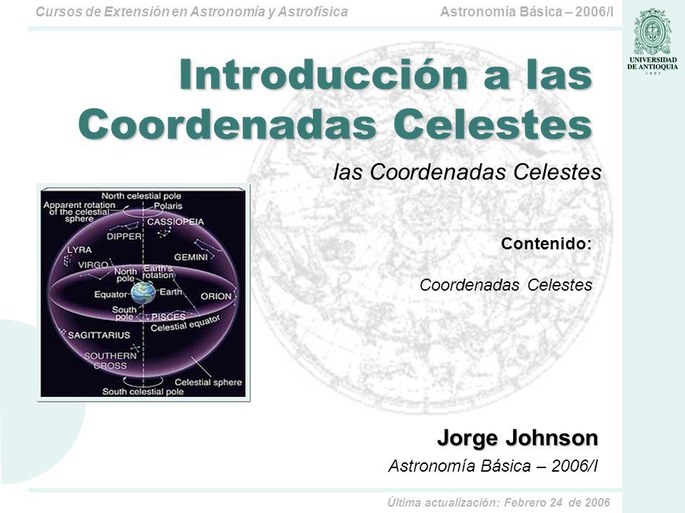 Introducción a las Coordenadas Celestes
