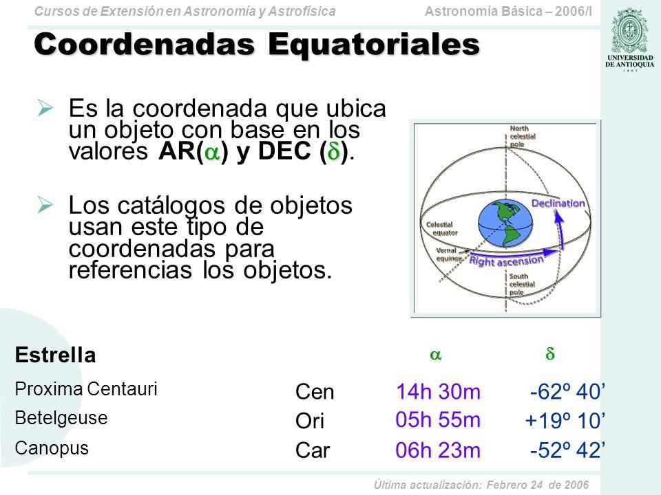Coordenadas Equatoriales