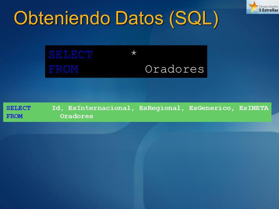 Obteniendo Datos (SQL)