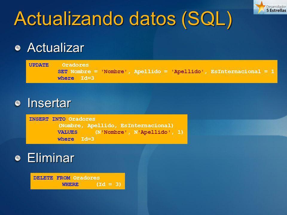 Actualizando datos (SQL)