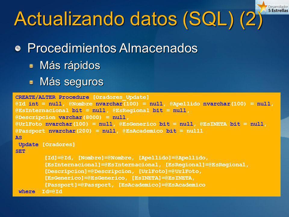 Actualizando datos (SQL) (2)