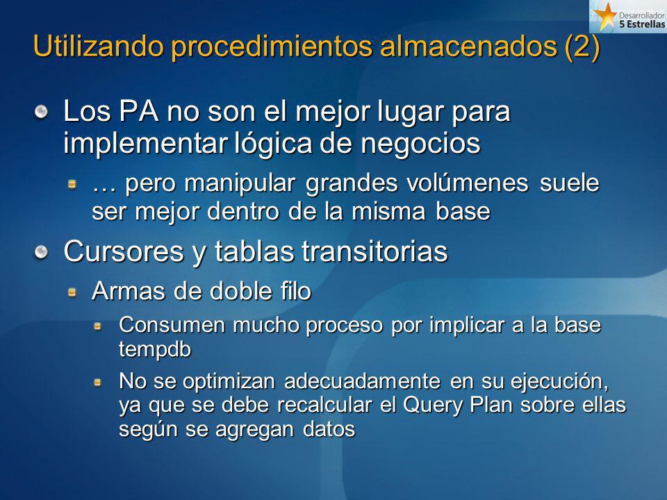Utilizando procedimientos almacenados (2)