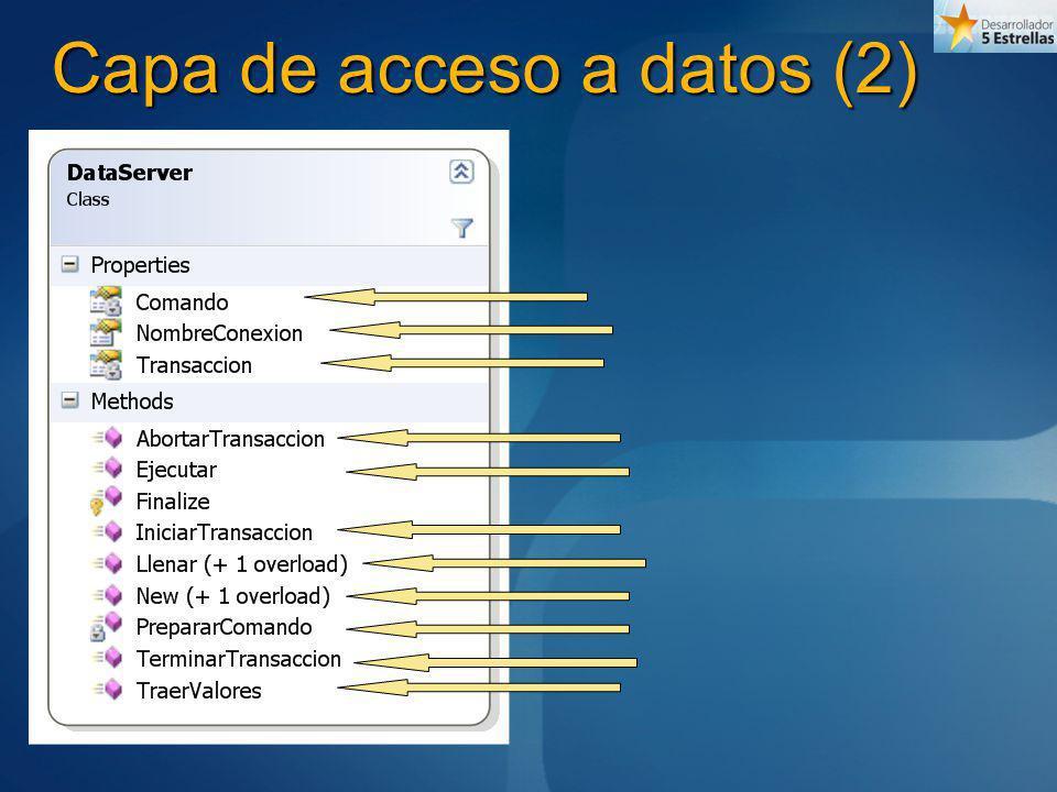 Capa de acceso a datos (2)