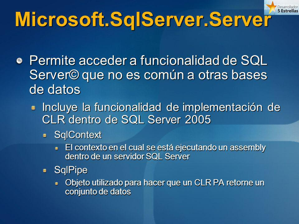 Microsoft.SqlServer.Server