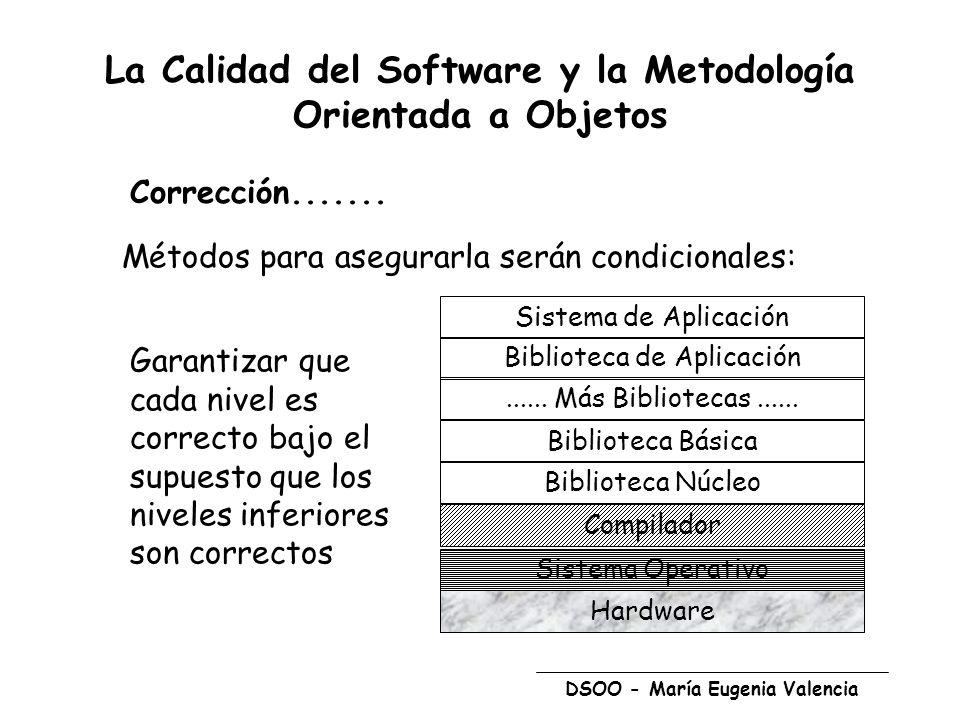 La Calidad del Software y la Metodología Orientada a Objetos
