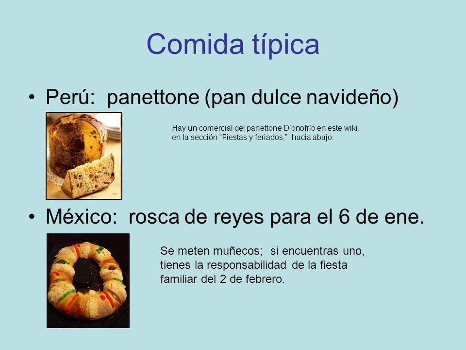 Comida típica Perú: panettone (pan dulce navideño)