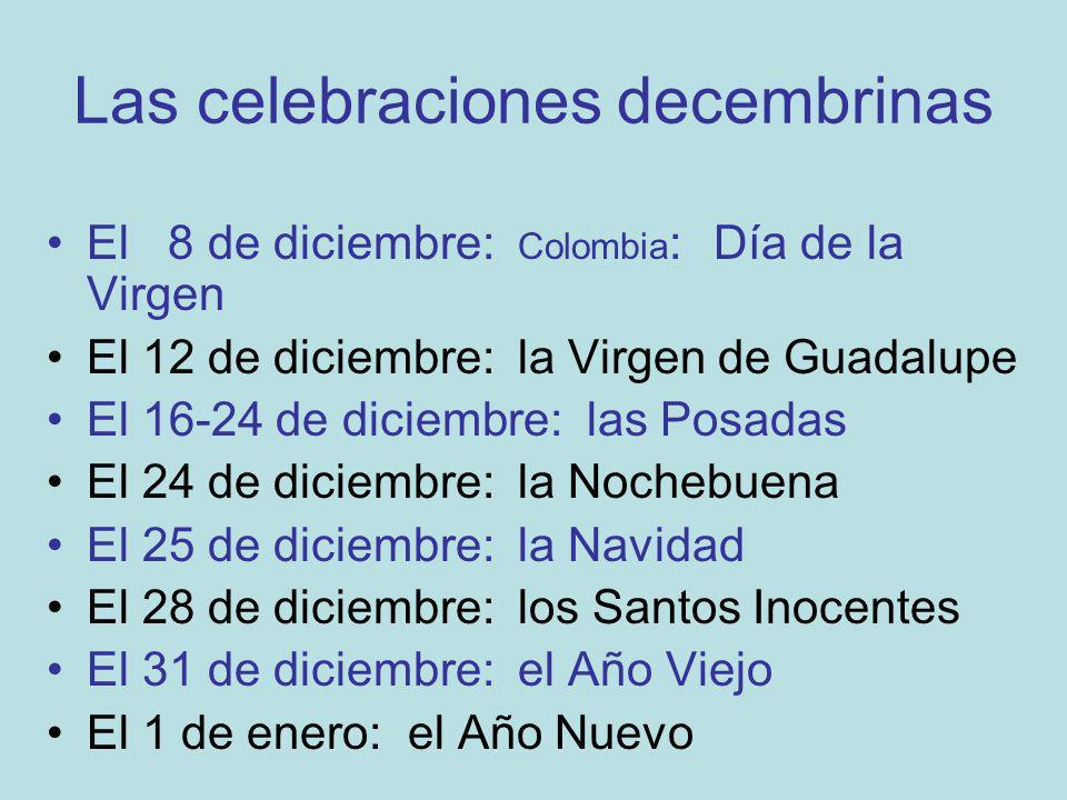 Las celebraciones decembrinas