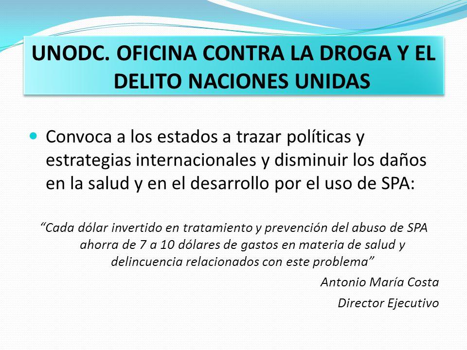 UNODC. OFICINA CONTRA LA DROGA Y EL DELITO NACIONES UNIDAS