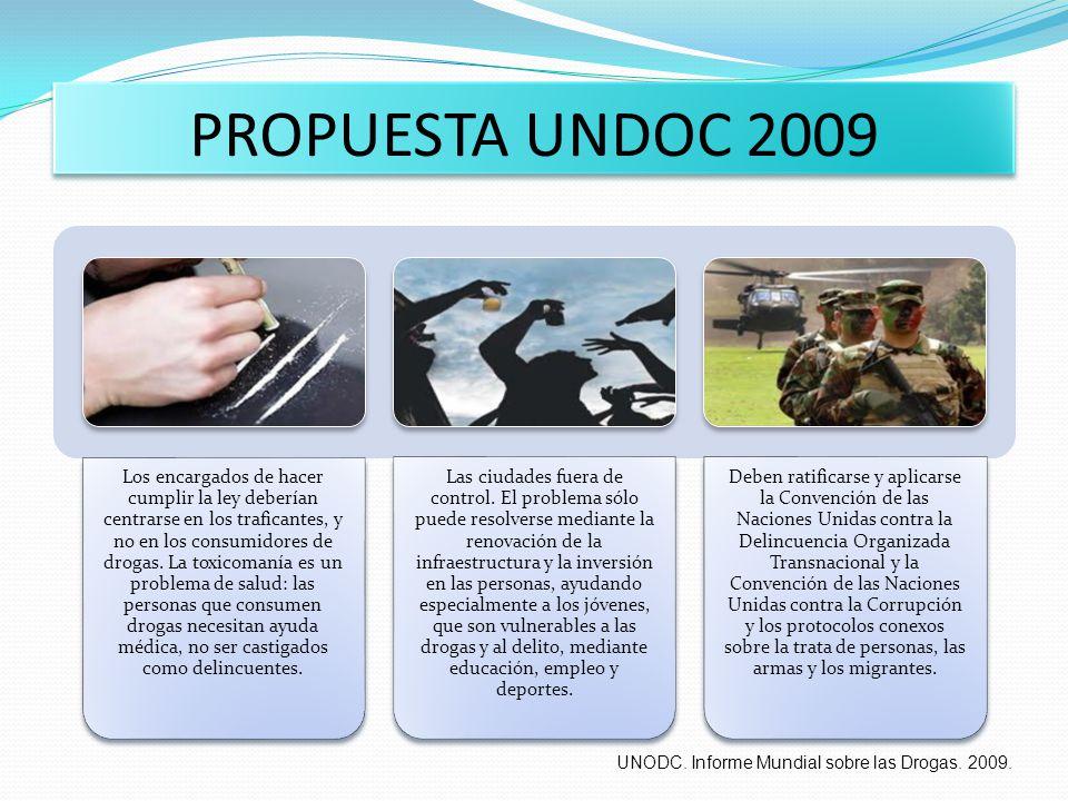PROPUESTA UNDOC 2009 UNODC. Informe Mundial sobre las Drogas. 2009.