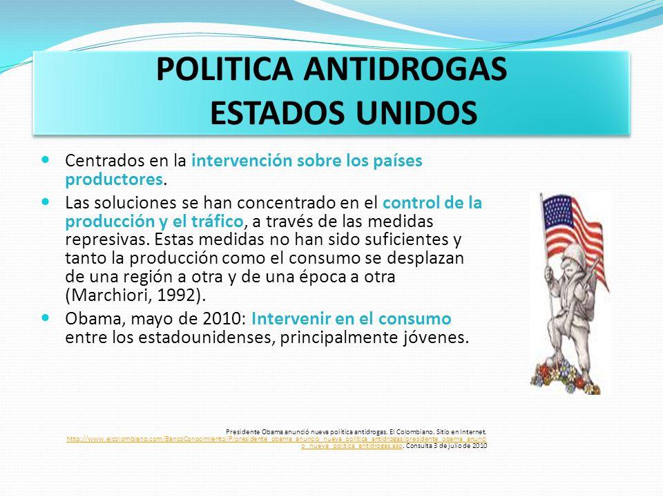 POLITICA ANTIDROGAS ESTADOS UNIDOS