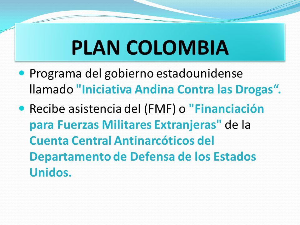 PLAN COLOMBIA Programa del gobierno estadounidense llamado Iniciativa Andina Contra las Drogas .