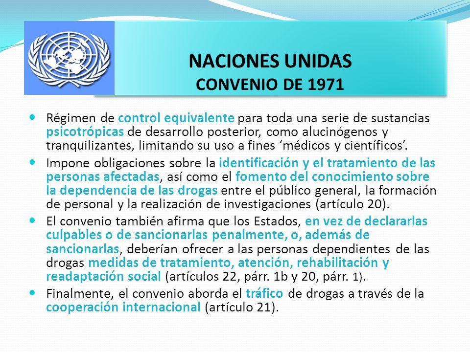 NACIONES UNIDAS CONVENIO DE 1971