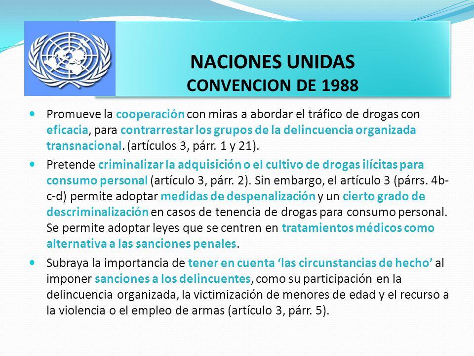 NACIONES UNIDAS CONVENCION DE 1988