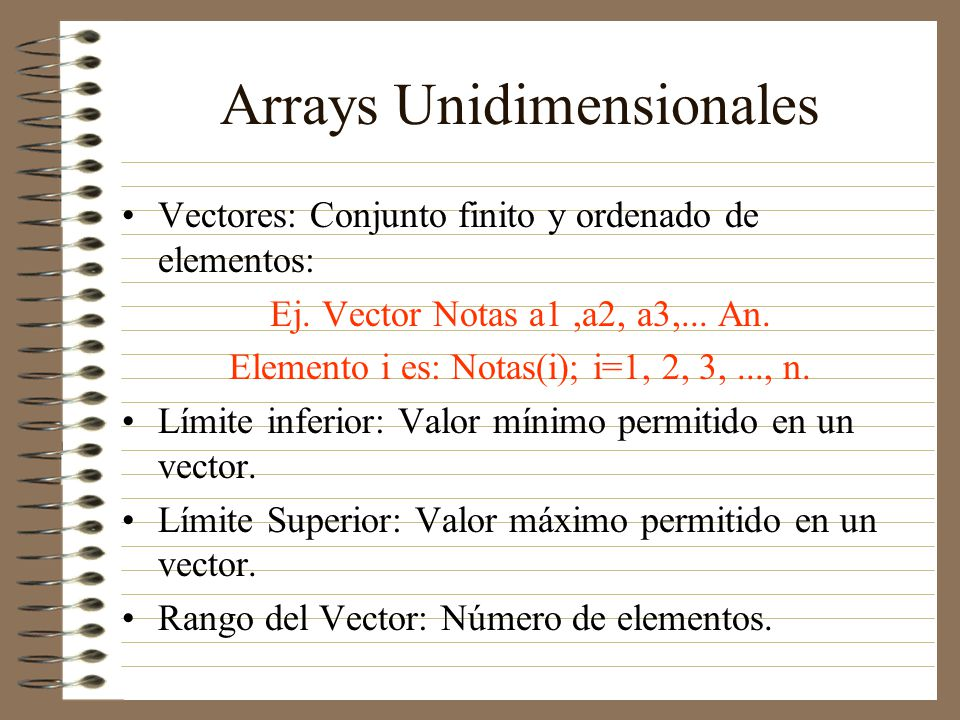 Arrays Unidimensionales
