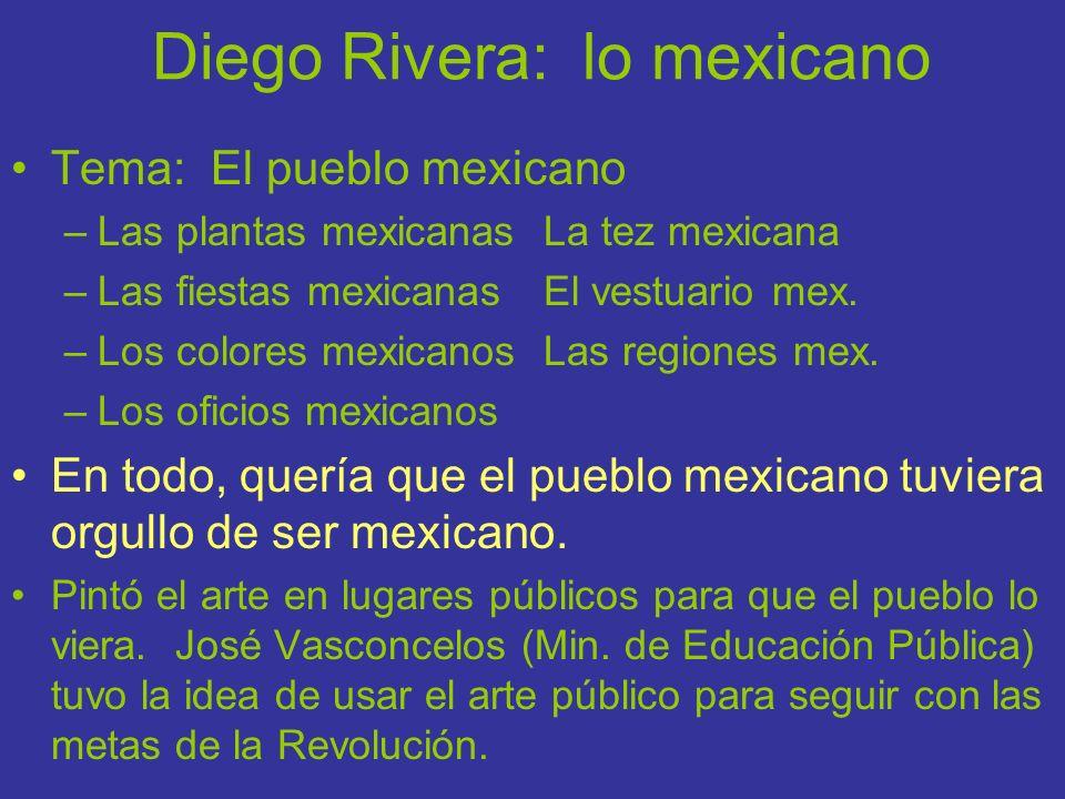 Diego Rivera: lo mexicano