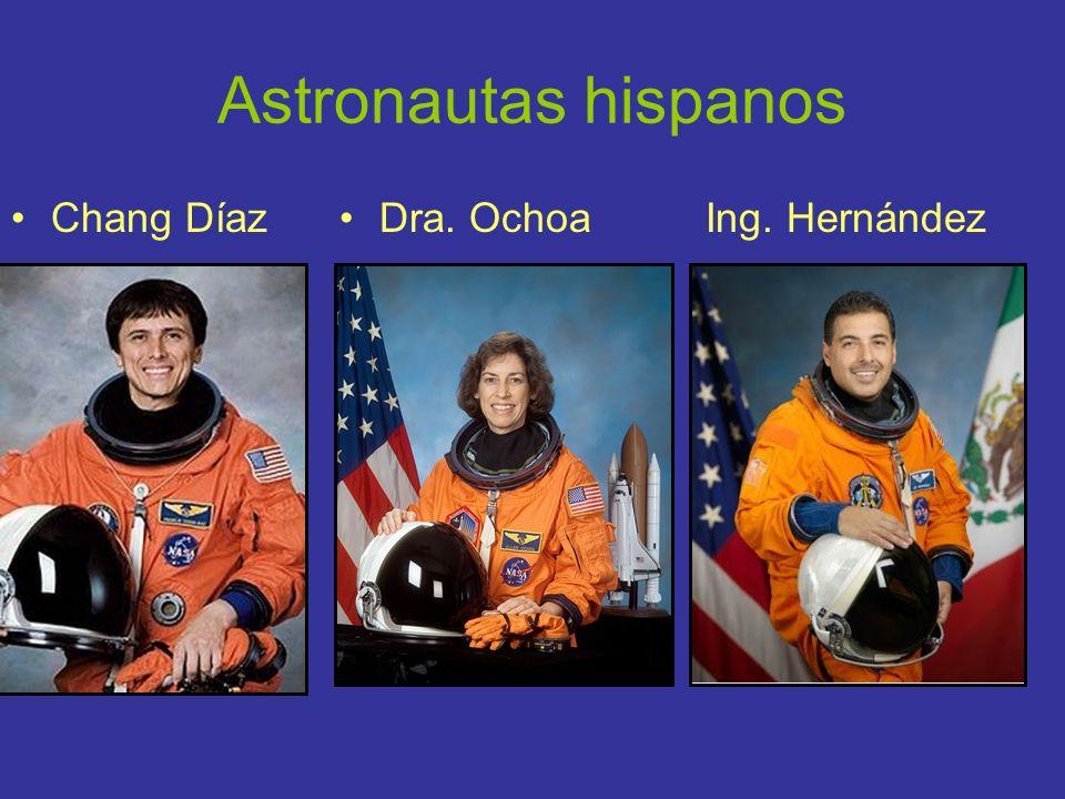 Astronautas hispanos Chang Díaz Dra. Ochoa Ing. Hernández