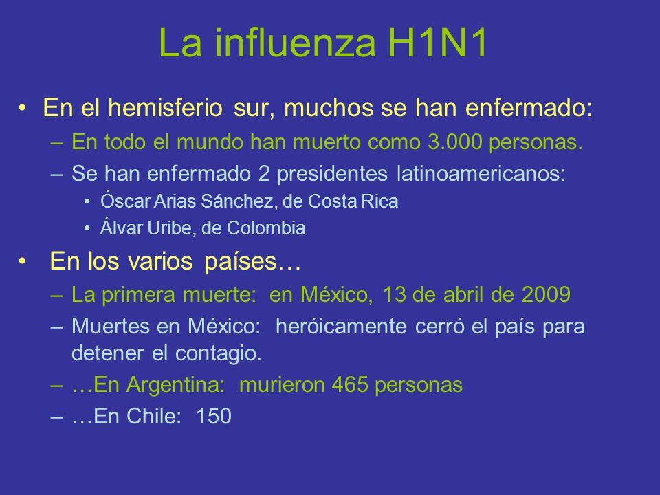 La influenza H1N1 En el hemisferio sur, muchos se han enfermado: