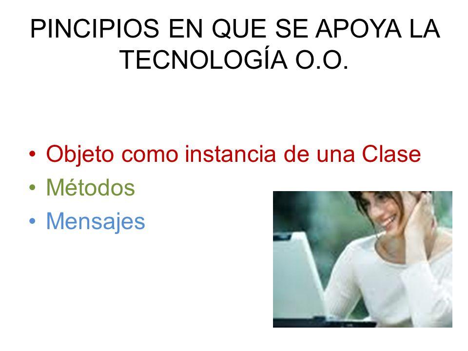 PINCIPIOS EN QUE SE APOYA LA TECNOLOGÍA O.O.