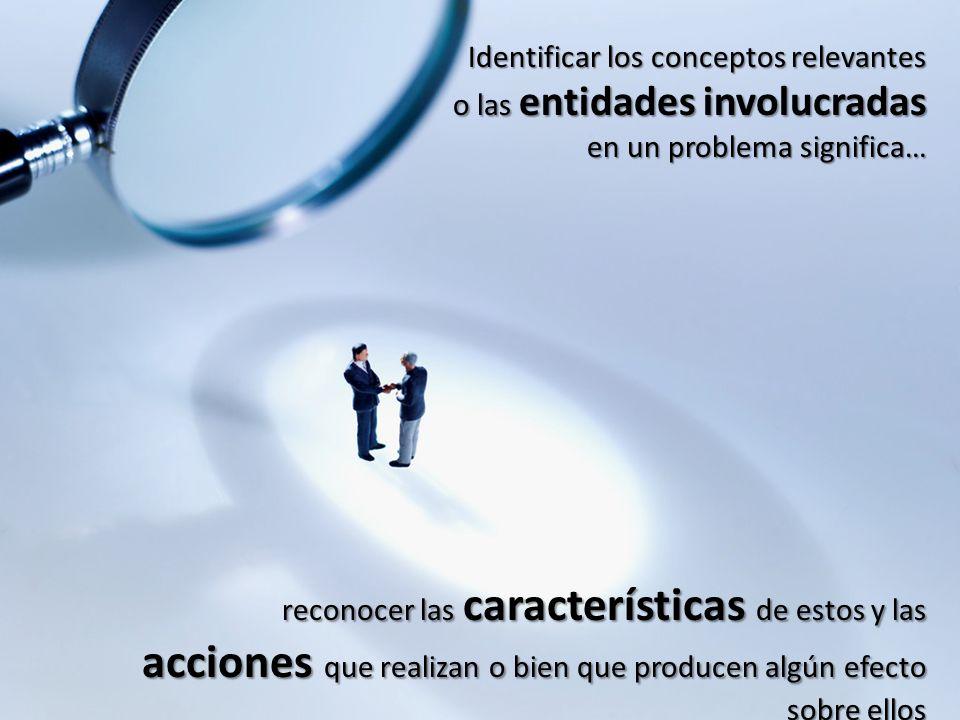 Identificar los conceptos relevantes