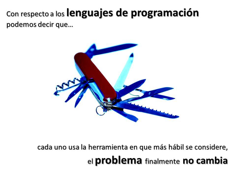 Con respecto a los lenguajes de programación