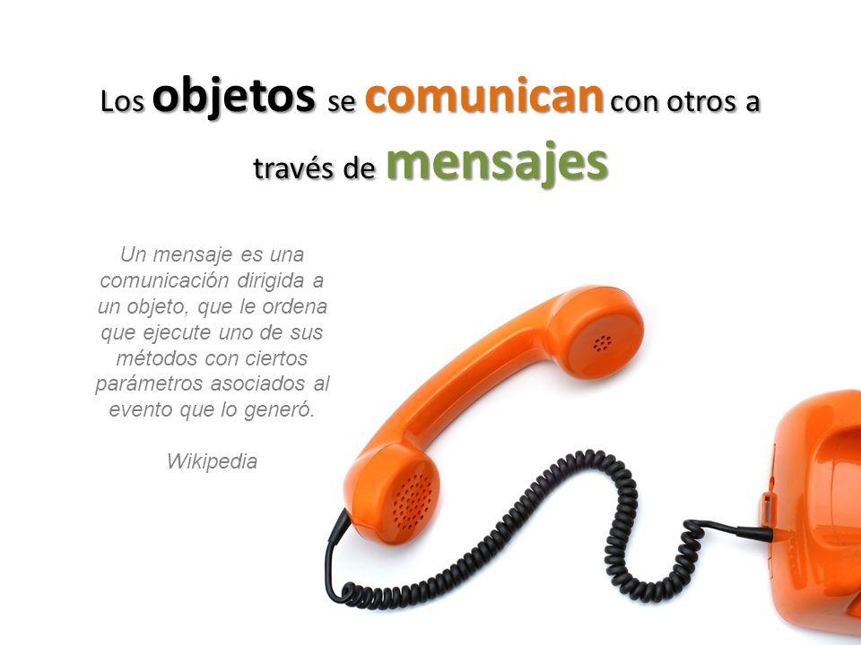 Los objetos se comunican con otros a través de mensajes