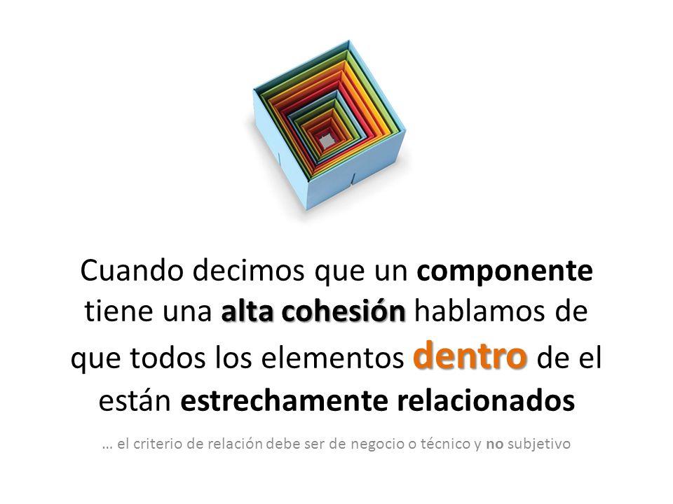 … el criterio de relación debe ser de negocio o técnico y no subjetivo