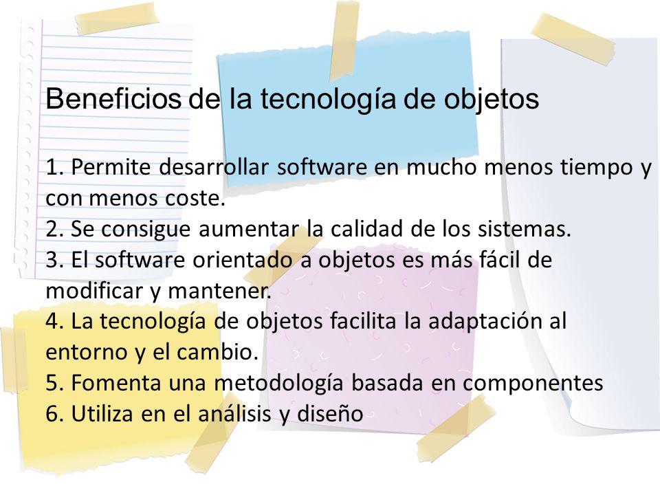 Beneficios de la tecnología de objetos