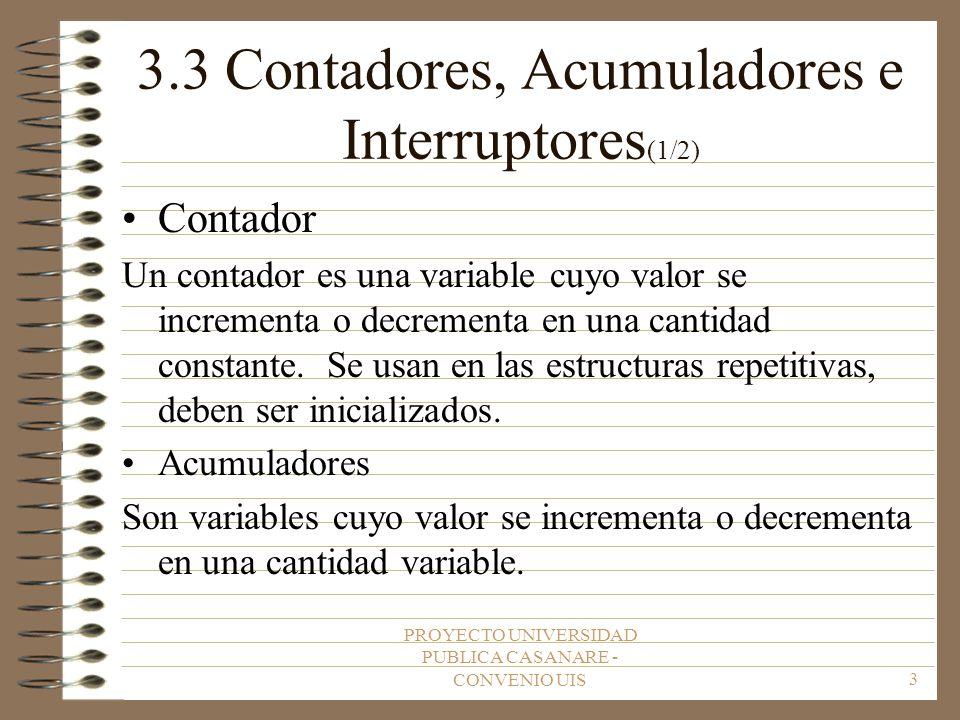 3.3 Contadores, Acumuladores e Interruptores(1/2)