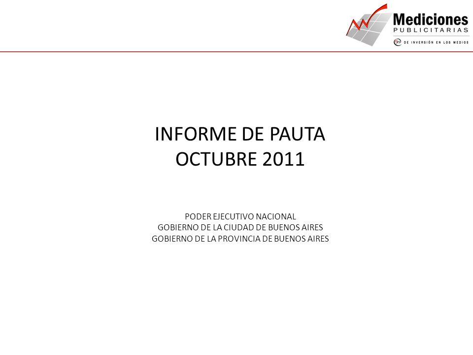 INFORME DE PAUTA OCTUBRE 2011 QUIENES SOMOS NUESTROS SERVICIOS