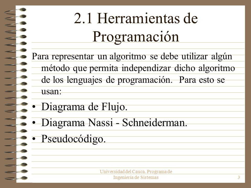 2.1 Herramientas de Programación