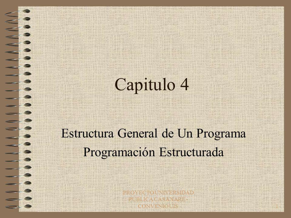 Estructura General de Un Programa Programación Estructurada