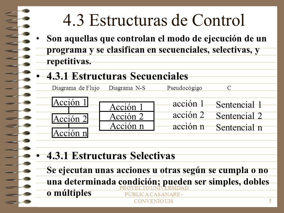 4.3 Estructuras de Control