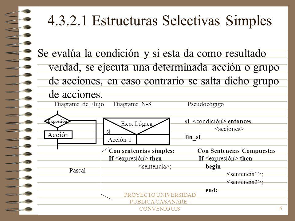 4.3.2.1 Estructuras Selectivas Simples