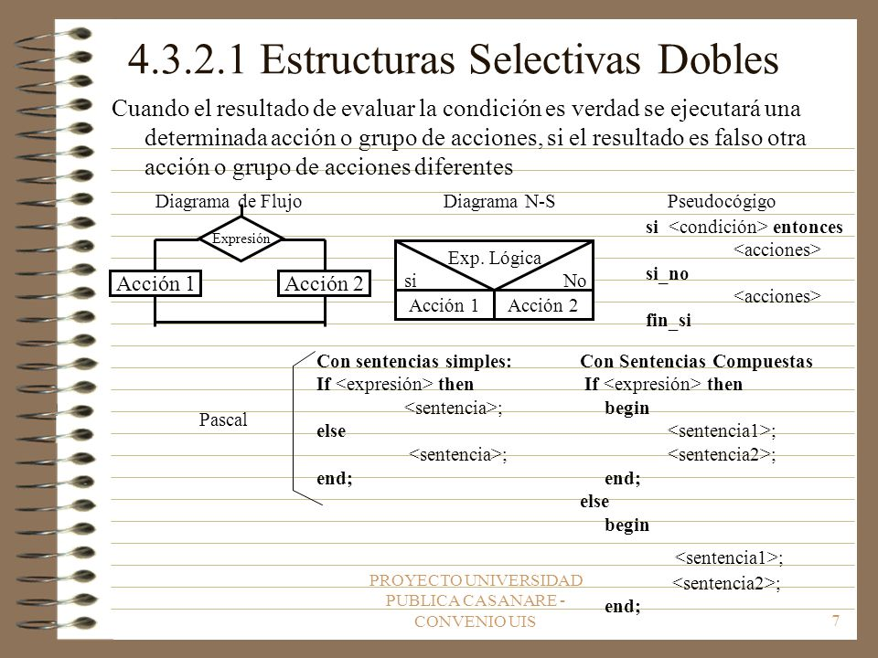 4.3.2.1 Estructuras Selectivas Dobles