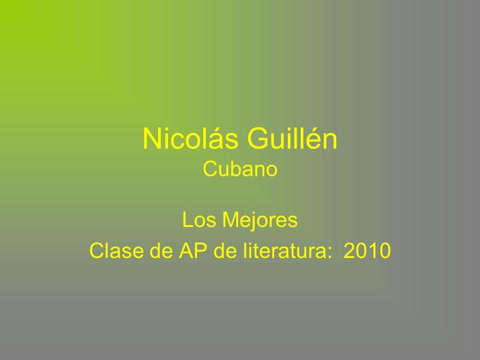 Nicolás Guillén Cubano